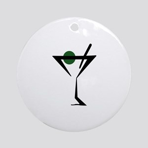 Abstract Martini Glass Ornament (Round)
