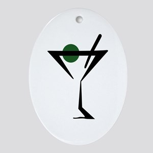 Abstract Martini Glass Ornament (Oval)