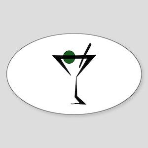 Abstract Martini Glass Sticker