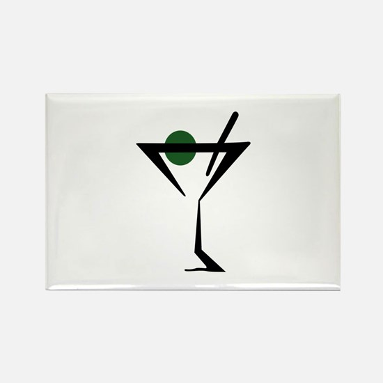Abstract Martini Glass Magnets