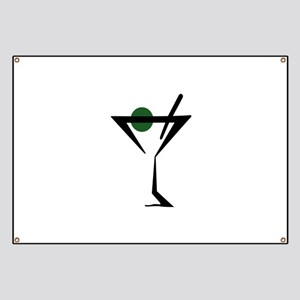 Abstract Martini Glass Banner