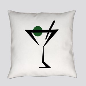 Abstract Martini Glass Everyday Pillow