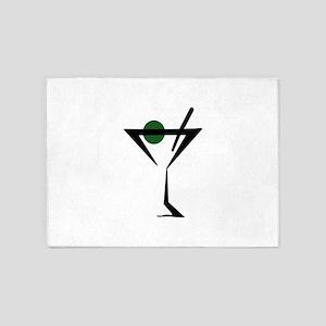 Abstract Martini Glass 5'x7'Area Rug