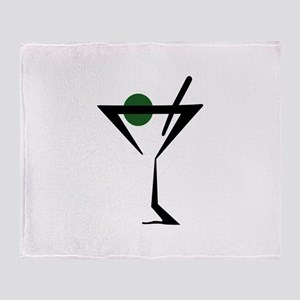 Abstract Martini Glass Throw Blanket