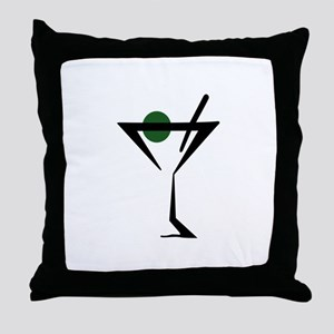 Abstract Martini Glass Throw Pillow