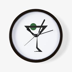 Abstract Martini Glass Wall Clock