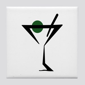 Abstract Martini Glass Tile Coaster