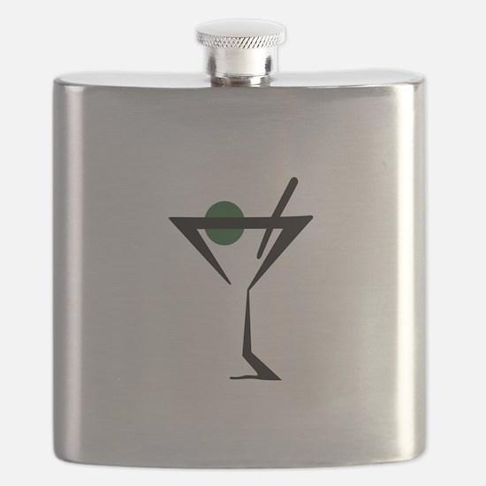 Abstract Martini Glass Flask
