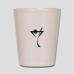Abstract Martini Glass Shot Glass