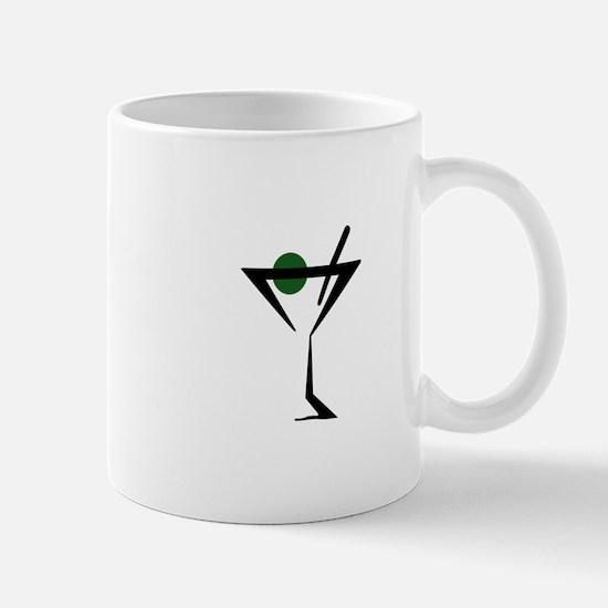 Abstract Martini Glass Mugs