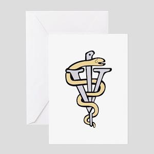 Veterinarian logo Greeting Cards