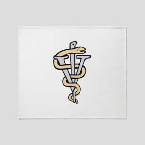 Veterinarian logo Throw Blanket