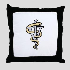 Veterinarian logo Throw Pillow
