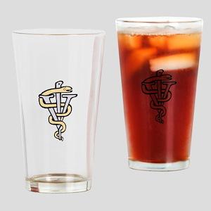 Veterinarian logo Drinking Glass