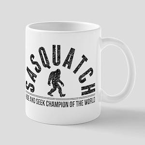 Sasquatch Hide And Seek Champion (Distressed) Mugs