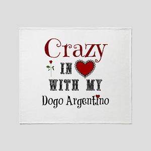 Dogo Argentino Throw Blanket
