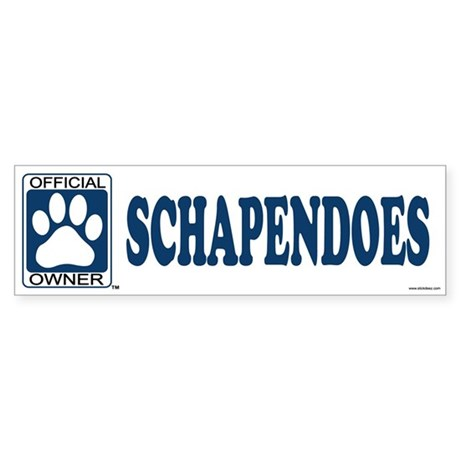 SCHAPENDOES Bumper Sticker