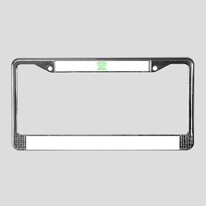 Friendship License Plate Frame