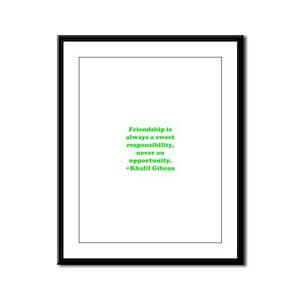 Friendship Framed Panel Print