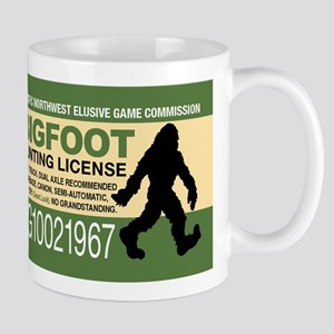 Bigfoot Hunting License Mugs