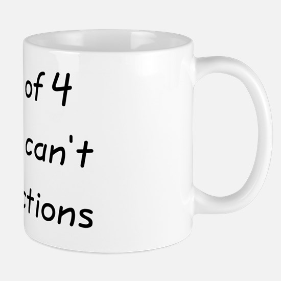 5 out of 4 People Can't Do Fractions Mug