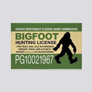 Bigfoot Hunting License Magnets
