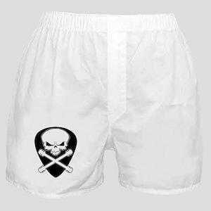 Guitar Skull & Crossbones Boxer Shorts
