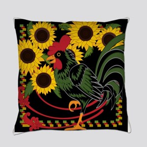 ROOSTER IN THE SUNFLOWERS Everyday Pillow