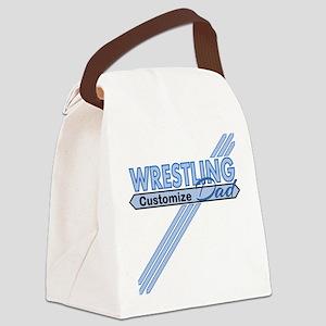 Wrestling Dad Canvas Lunch Bag