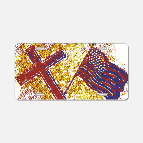God and Country Aluminum License Plate