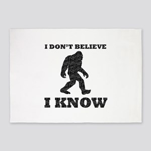 I Know Bigfoot (Distressed) 5'x7'Area Rug