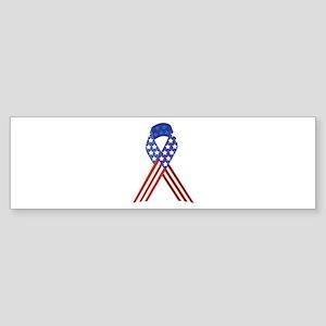 Patriotic Ribbon Bumper Sticker