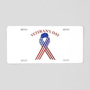Veterans Day Aluminum License Plate