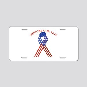 Support Vets Aluminum License Plate