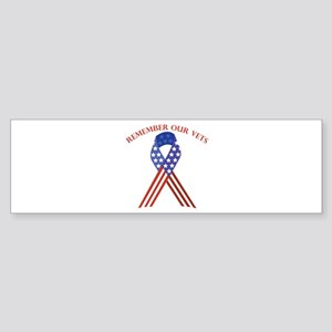 Remember Vets Bumper Sticker