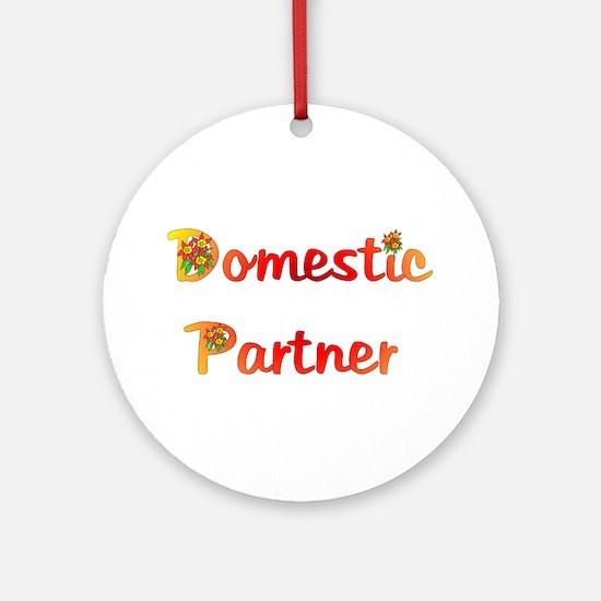 Domestic Partner Ornament (Round)