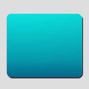 turquoise blue ombre Mousepad