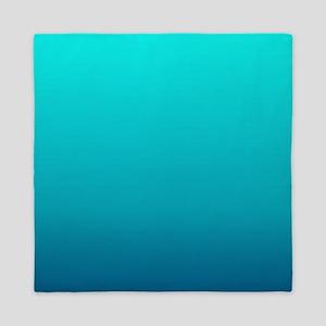 turquoise blue ombre Queen Duvet