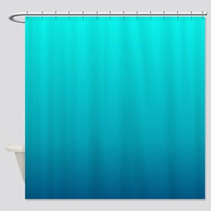 turquoise blue ombre Shower Curtain