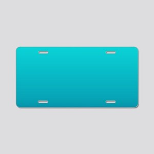 turquoise blue ombre Aluminum License Plate