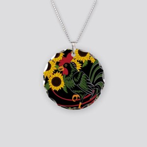ROOSTER IN THE SUNFLOWERS Necklace
