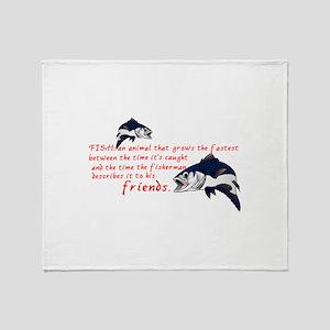 Fish Story Throw Blanket