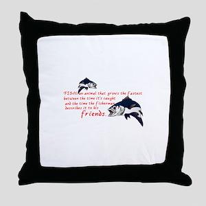 Fish Story Throw Pillow