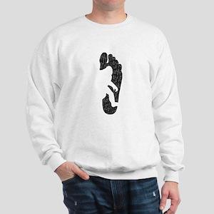 Bigfoot Footprint (Distressed) Sweatshirt