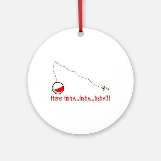 Here fishy Ornament (Round)