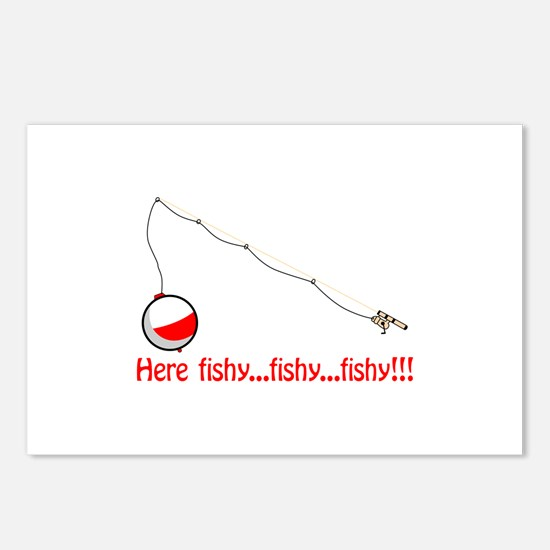 Here fishy Postcards (Package of 8)