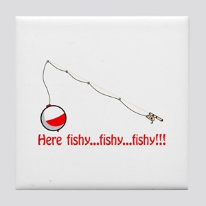 Here fishy Tile Coaster