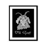 Old Goat Him Framed Panel Print