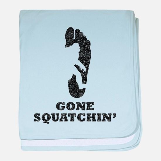 Gone Squatchin (Distressed) baby blanket