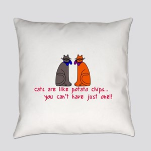 Cats Potato Chips Everyday Pillow